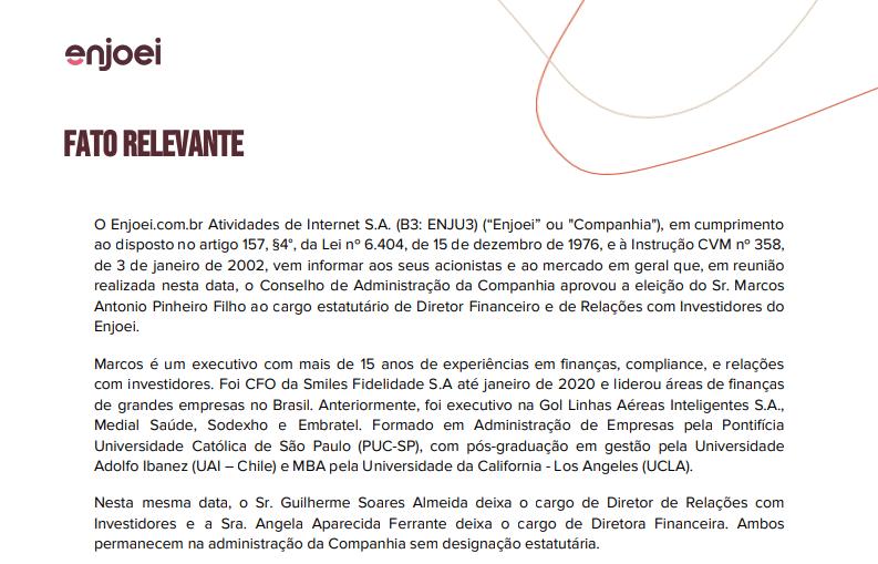 MRV (MRVE3) anuncia saída de diretor comercial; Enjoei (ENJU3) aprova novo diretor-financeiro